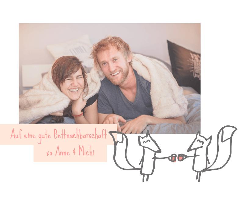 Ueber uns Bettnachbarn - Auf eine gute Bettnachbarschaft!